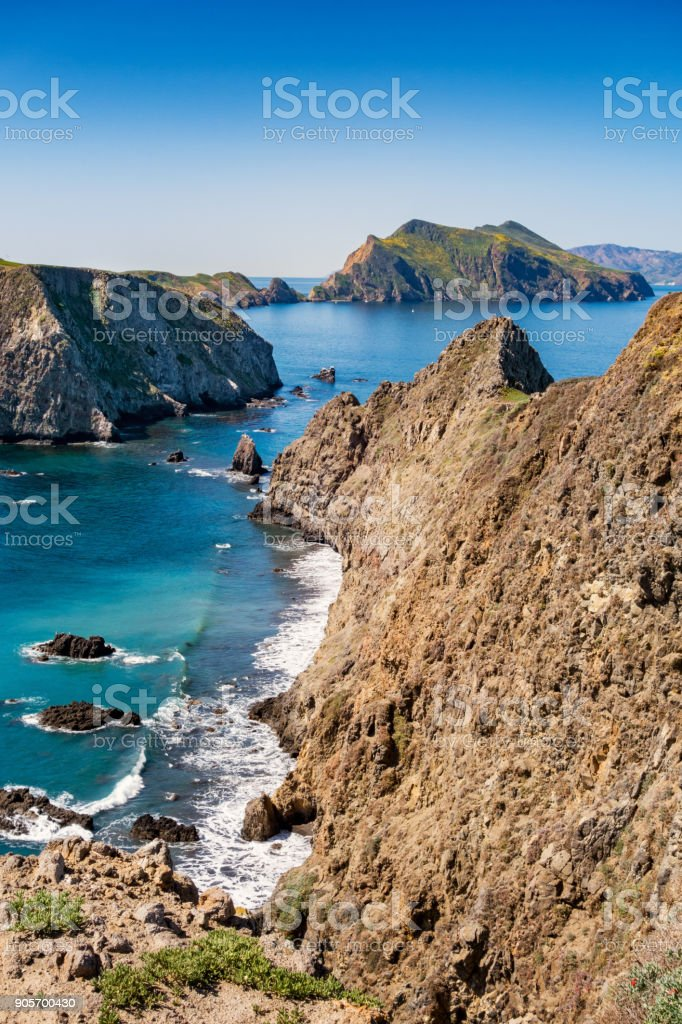Inspiration Point view on Anacapa Island in Channel Islands National Park California stock photo