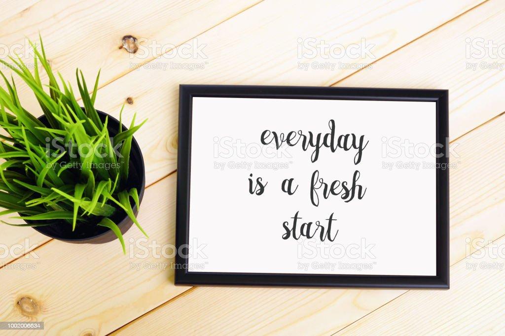 Inspiration quote Decoration stock photo