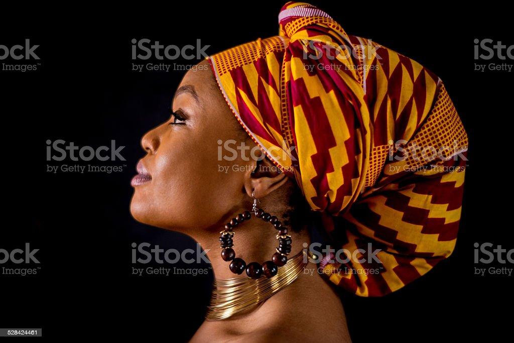 Inspirational black woman portrait stock photo