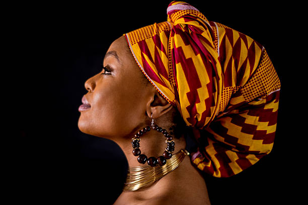 inspirational black woman portrait - african culture stock photos and pictures
