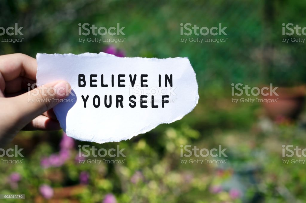 Inspirational Quote about Confidence stock photo