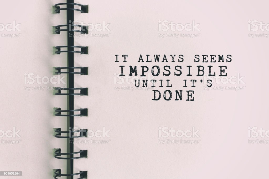 Inspirational Quote About Success stock photo