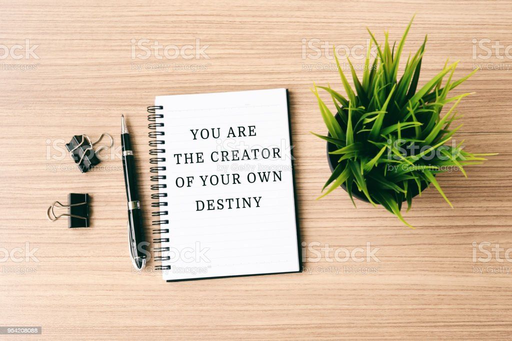 6a4317e8dfb44 Inspirational Quote You Are The Creator Of Your Own Destiny Stock ...