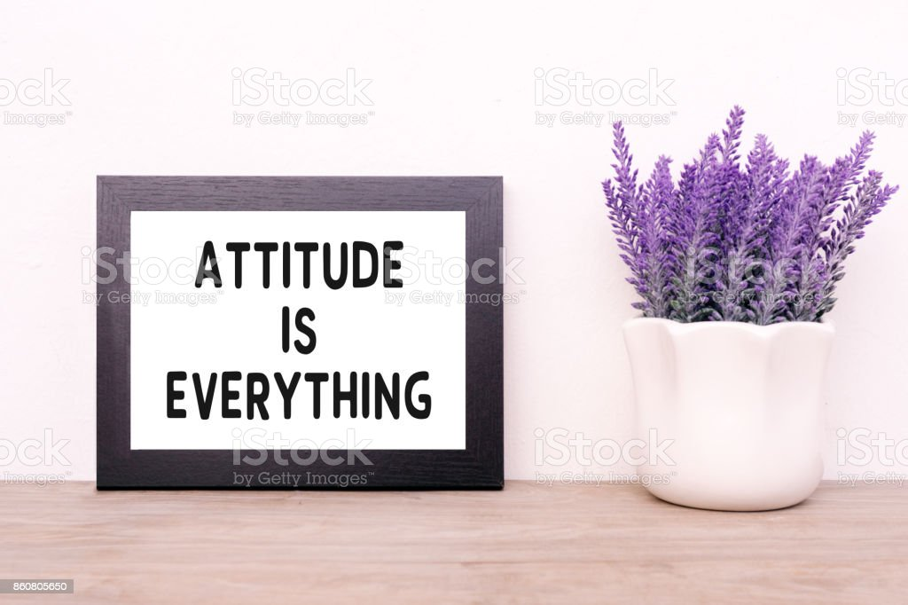 Inspirational Quotes - Attitude is Everything stock photo
