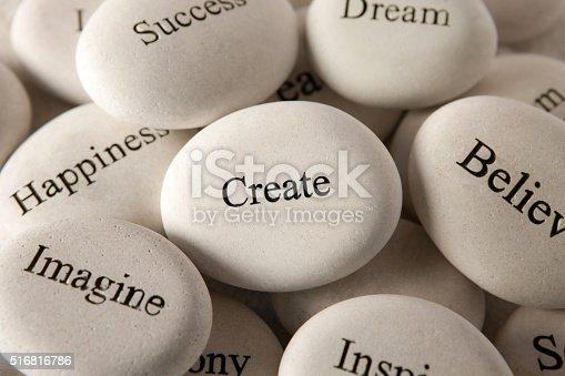 istock Inspirational stones - Create 516816786