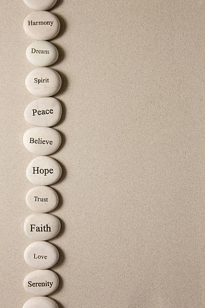 Inspirational stones stock photo