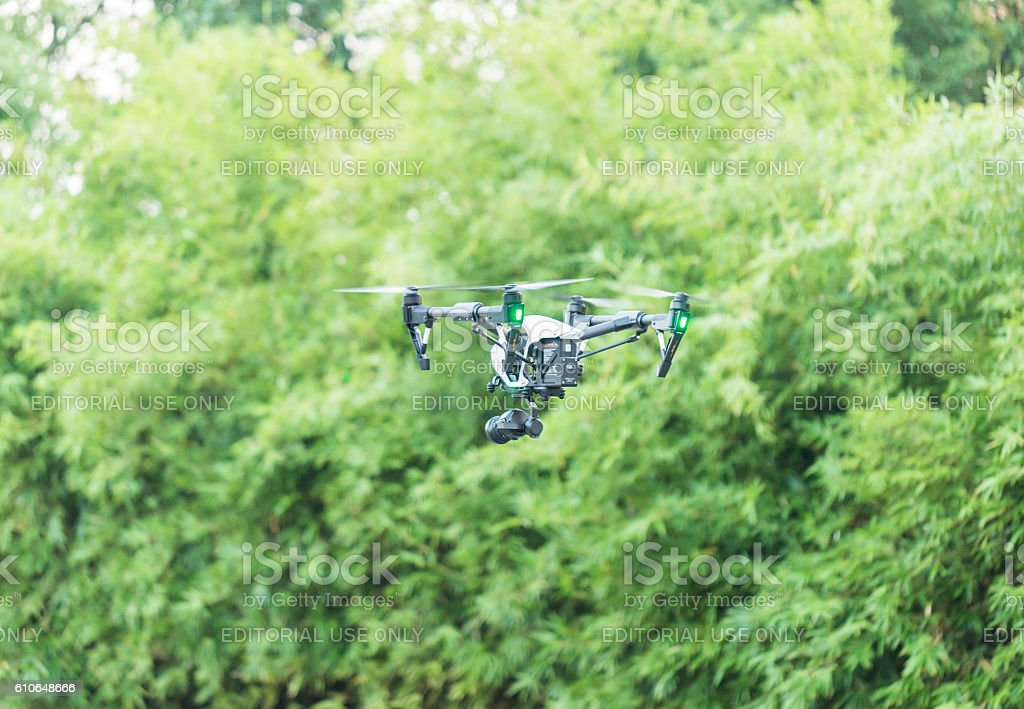 DJI Inspire  PRO Quadcopter with Zenmuse X5 stock photo