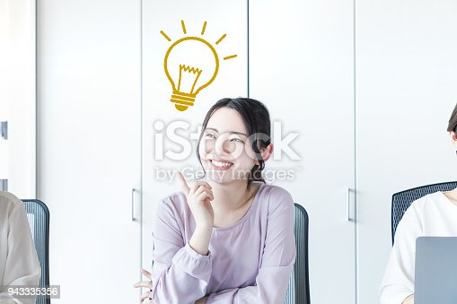 istock Inspired asian woman. 943335356