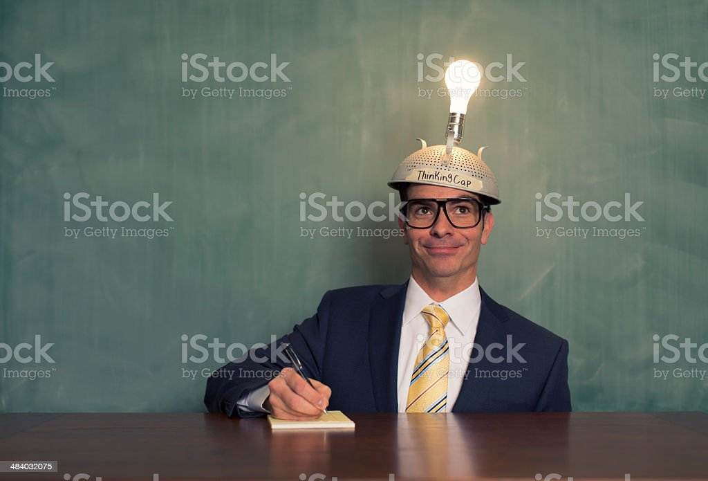 Inspired Business Student stock photo