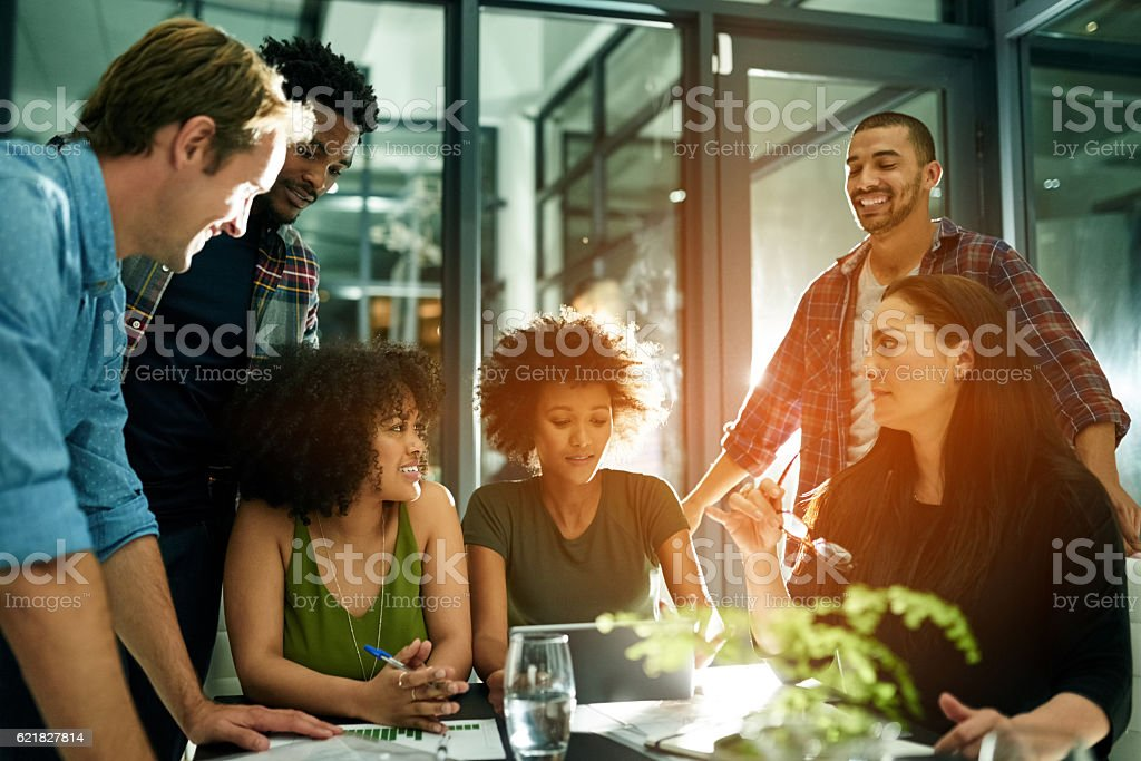 Inspired by each other's energy stock photo