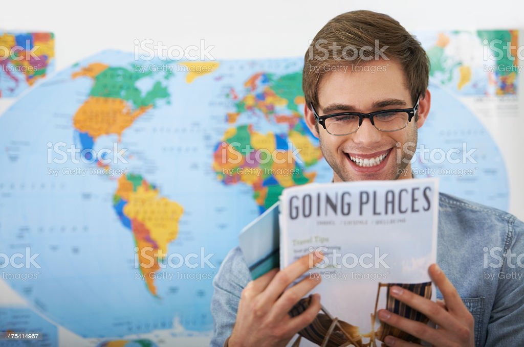 Inspired to go travelling stock photo