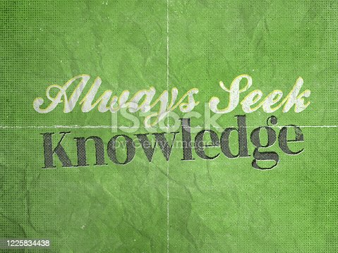 ALWAYS SEEK KNOWLEDGE , Inspiring Creative Motivation Quote Poster Template