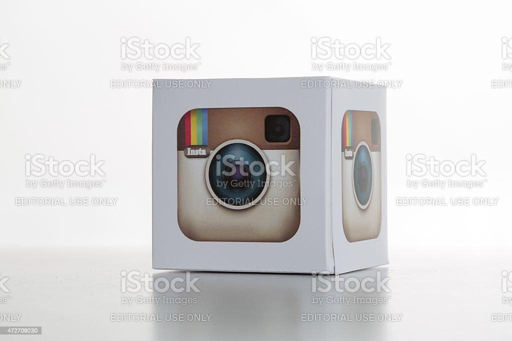 Instagram Icon on a Whitebackground stock photo