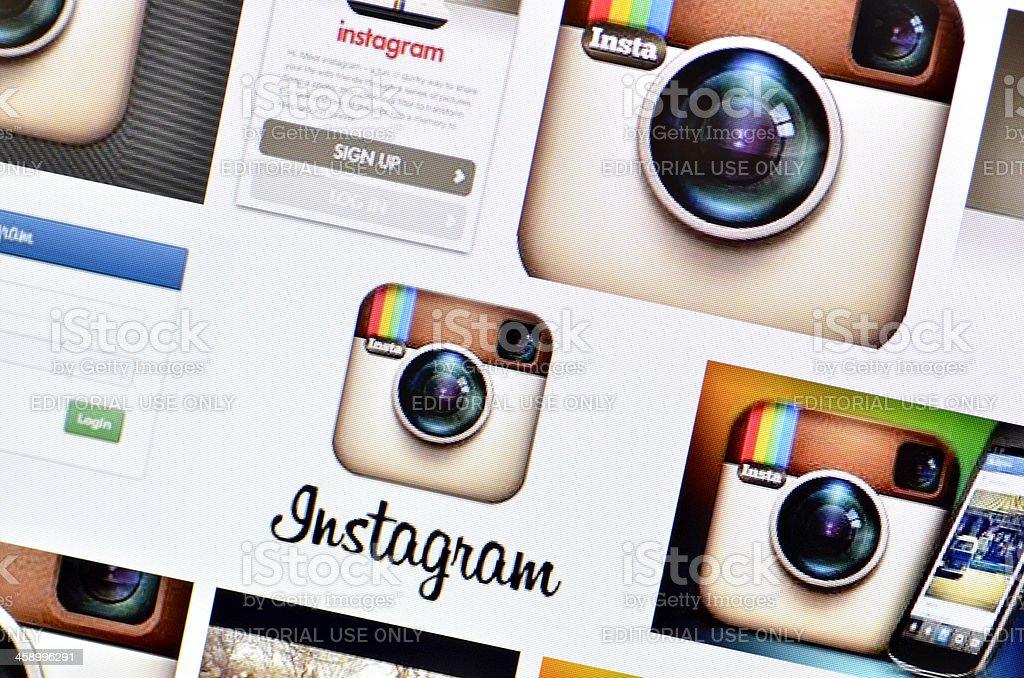 Instagram Icons stock photo
