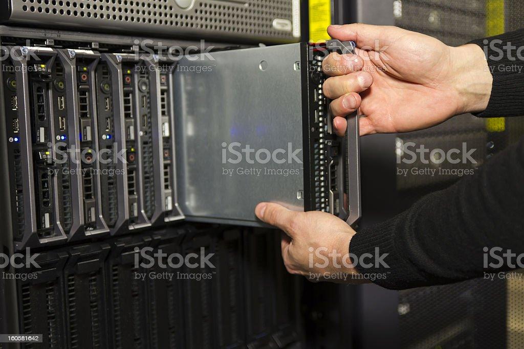 Install Blade Server royalty-free stock photo