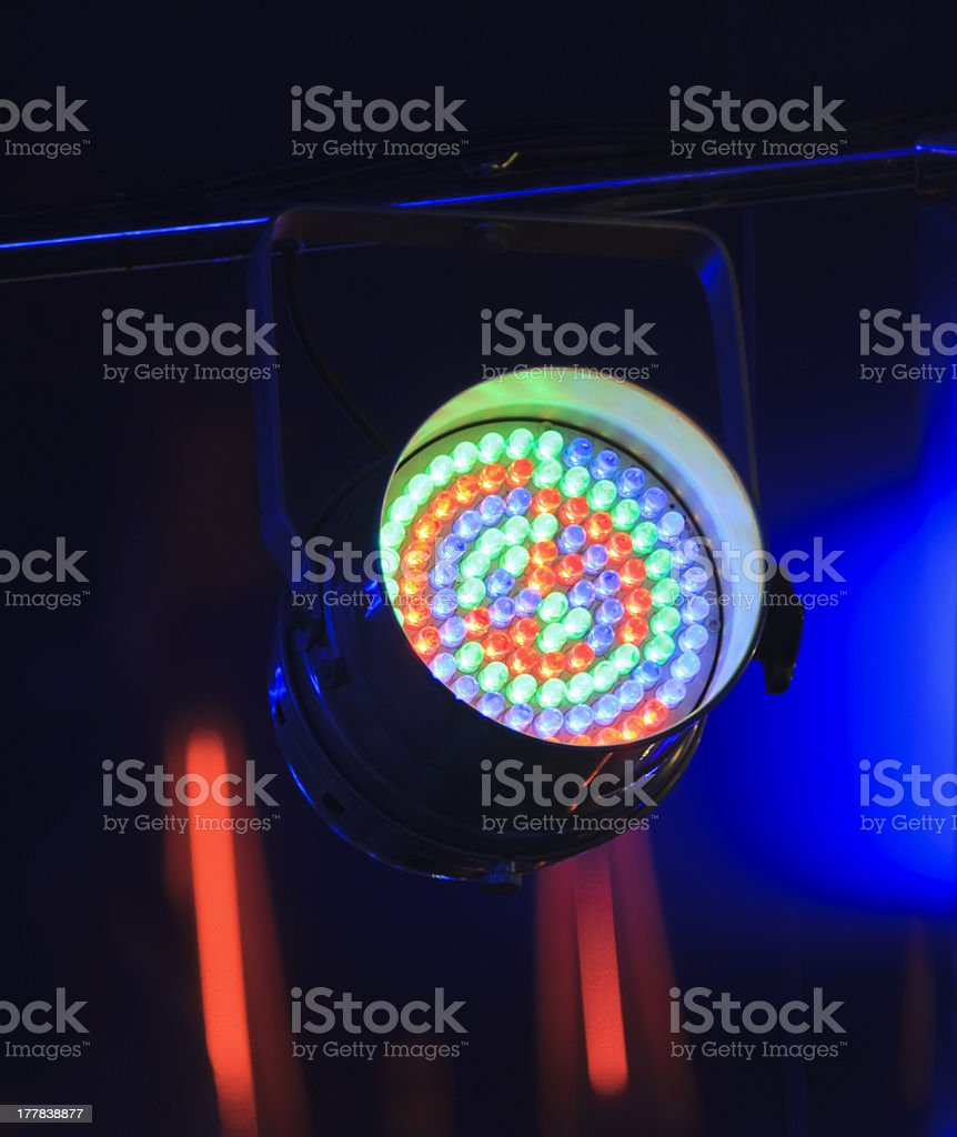 installation for creation of light effects stock photo