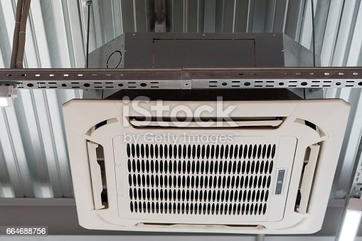 istock installation of air conditioning on the ceiling 664688756