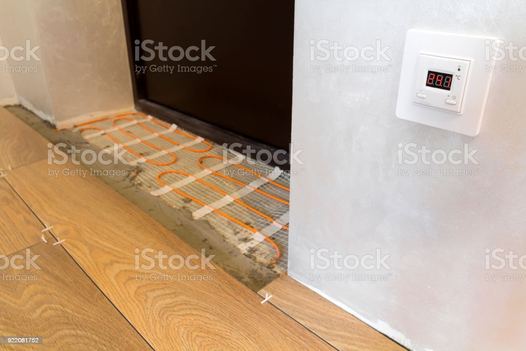 Installation Of Heating Elements In Warm Tile Floor And Control - Heating element for tile floor