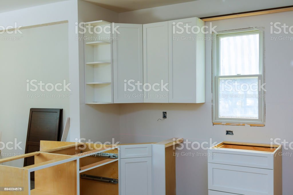 Installation Of Kitchen The Drawer In Cabinet Stock Photo Download Image Now Istock