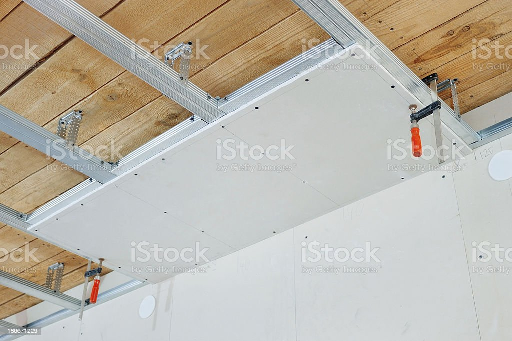 Installation Of Suspended Ceiling Stock Photo Download