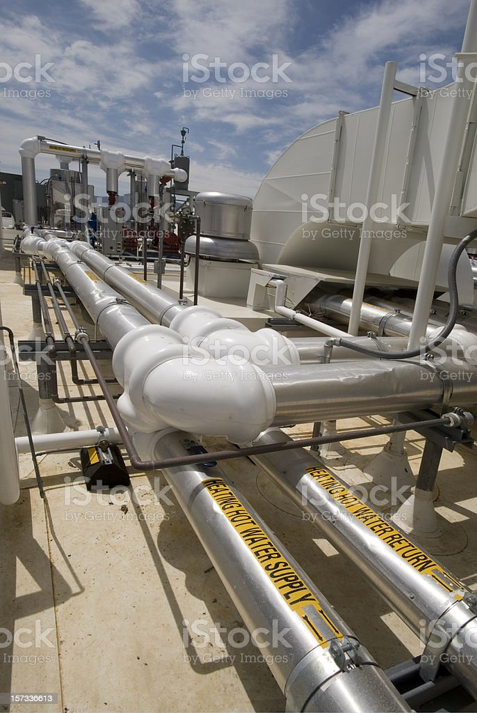 HVAC installation royalty-free stock photo