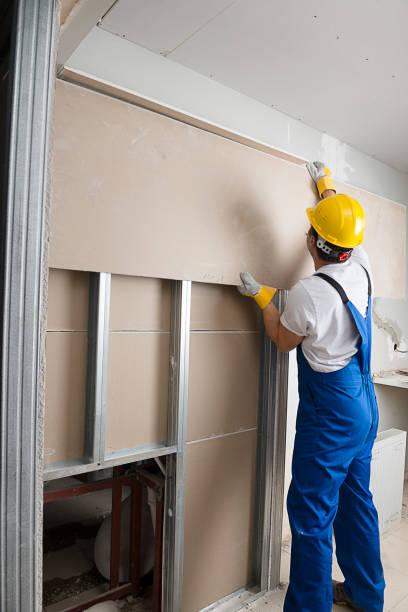 Instalar Drywalls - foto de acervo