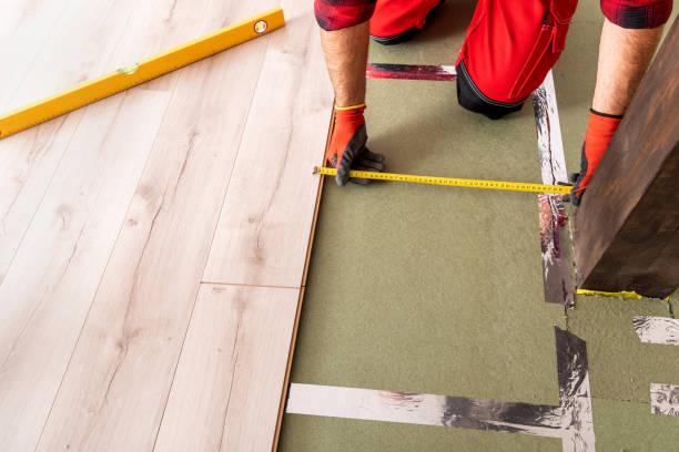 Installing laminate flooring – zdjęcie