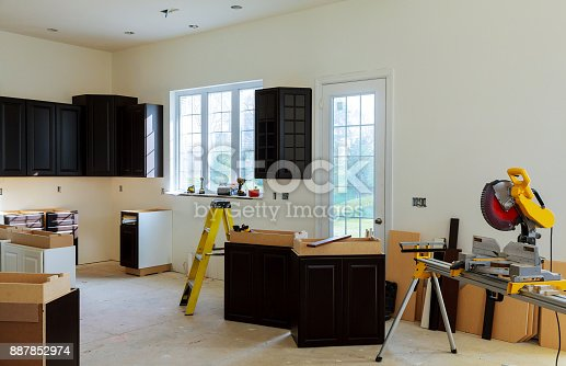 1070686034 istock photo Installing new induction hob in modern kitchen 887852974
