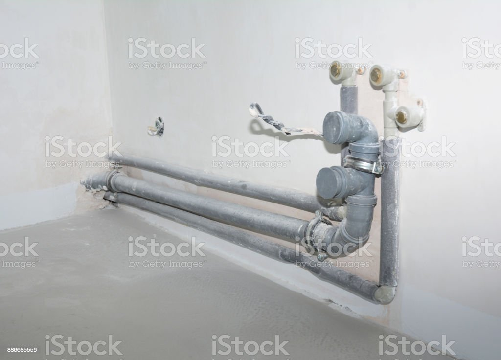 Installing The Plumbing For A Kitchen Sink Replacing And Repair Kitchen Sink Pvc Pipes Ptrap Stock Photo Download Image Now Istock