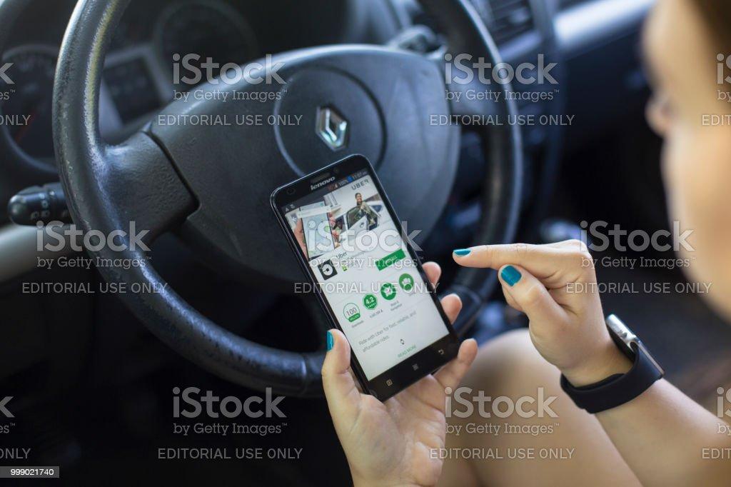 Installation de l'application de Uber - Photo