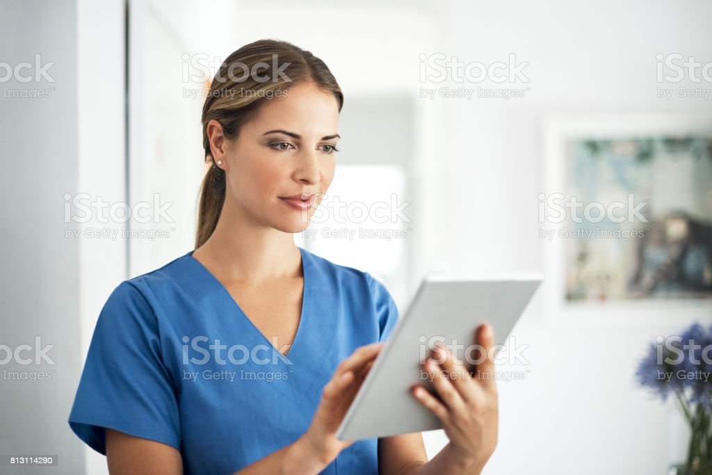 Instant access to the latest medical breakthroughs stock photo
