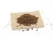 instant coffee granules, coffee break concept, image