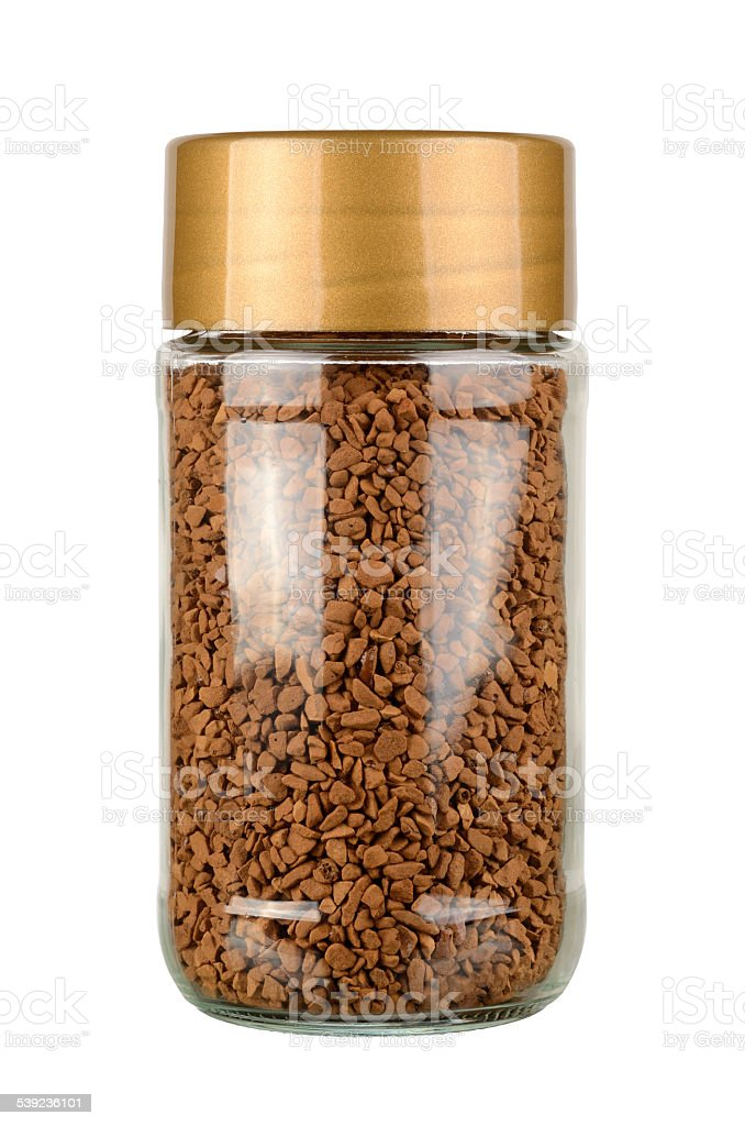 Instant coffee jar royalty-free stock photo