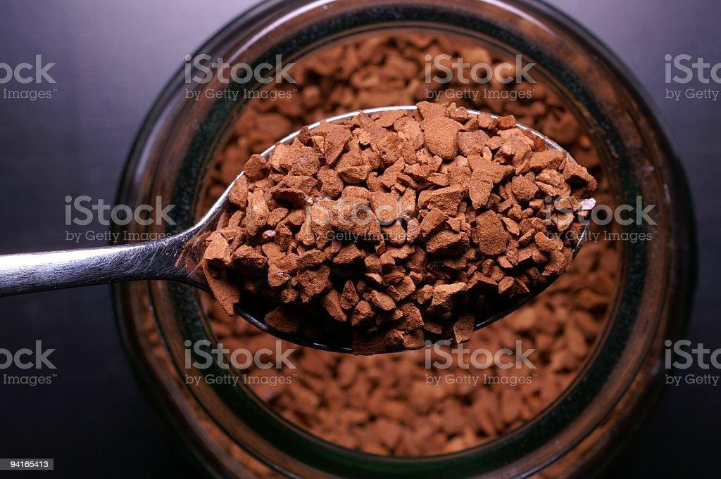 Instant Coffee & Jar stock photo