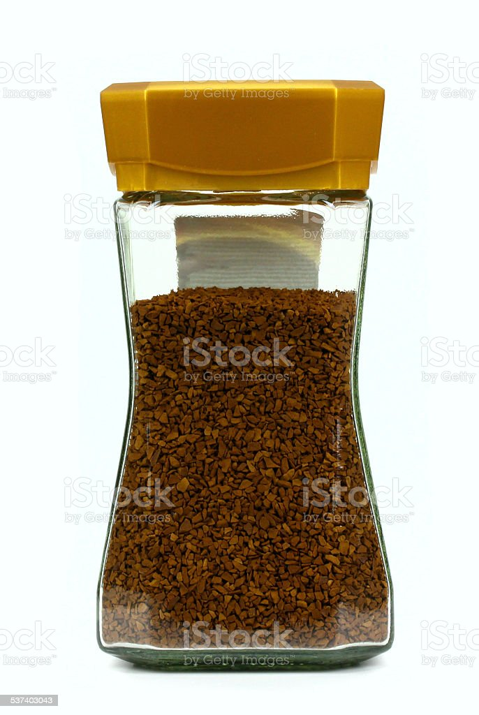 instant coffee on a white background stock photo