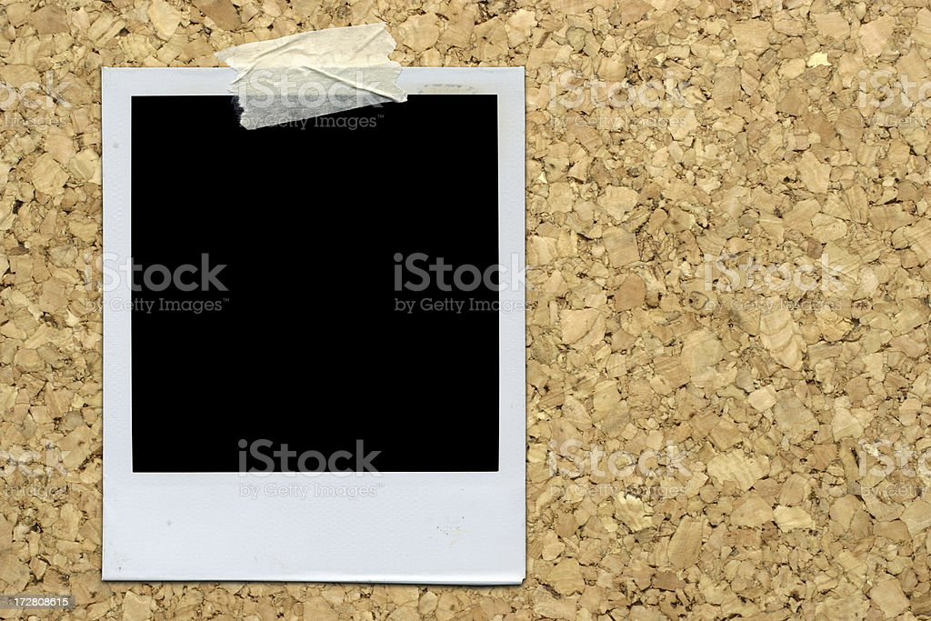 Instant Film on Cork-board royalty-free stock photo