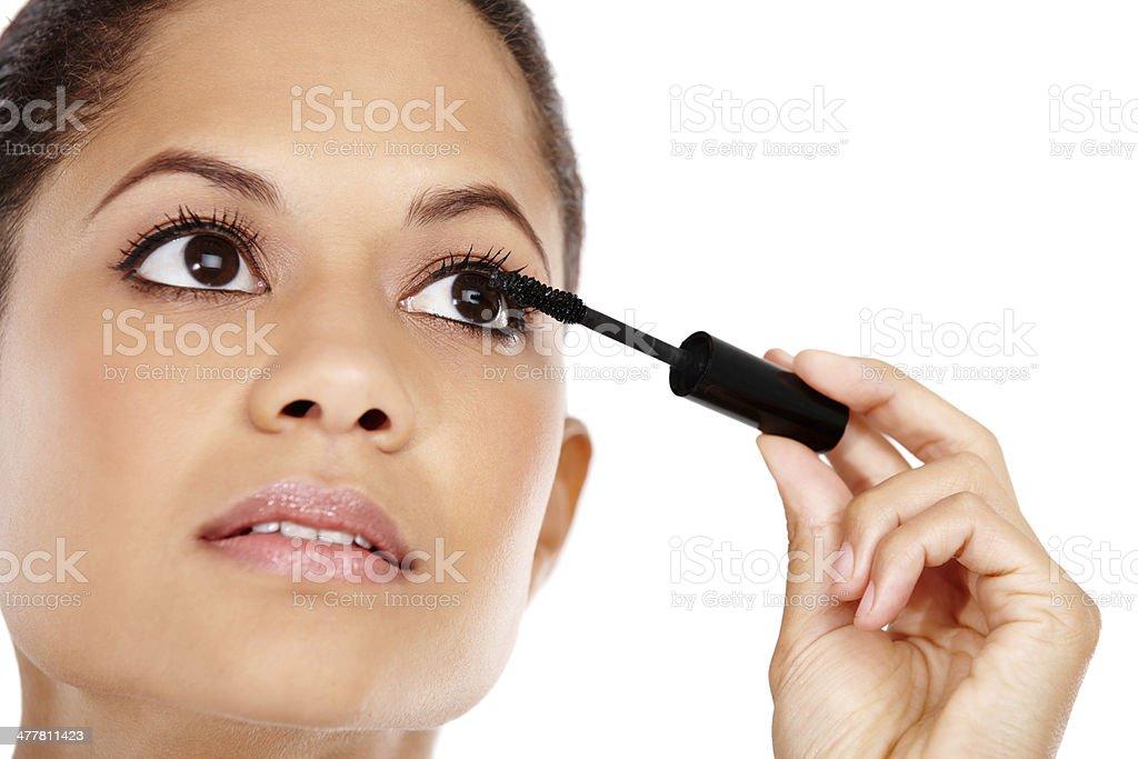 Instant glamourous lashes royalty-free stock photo