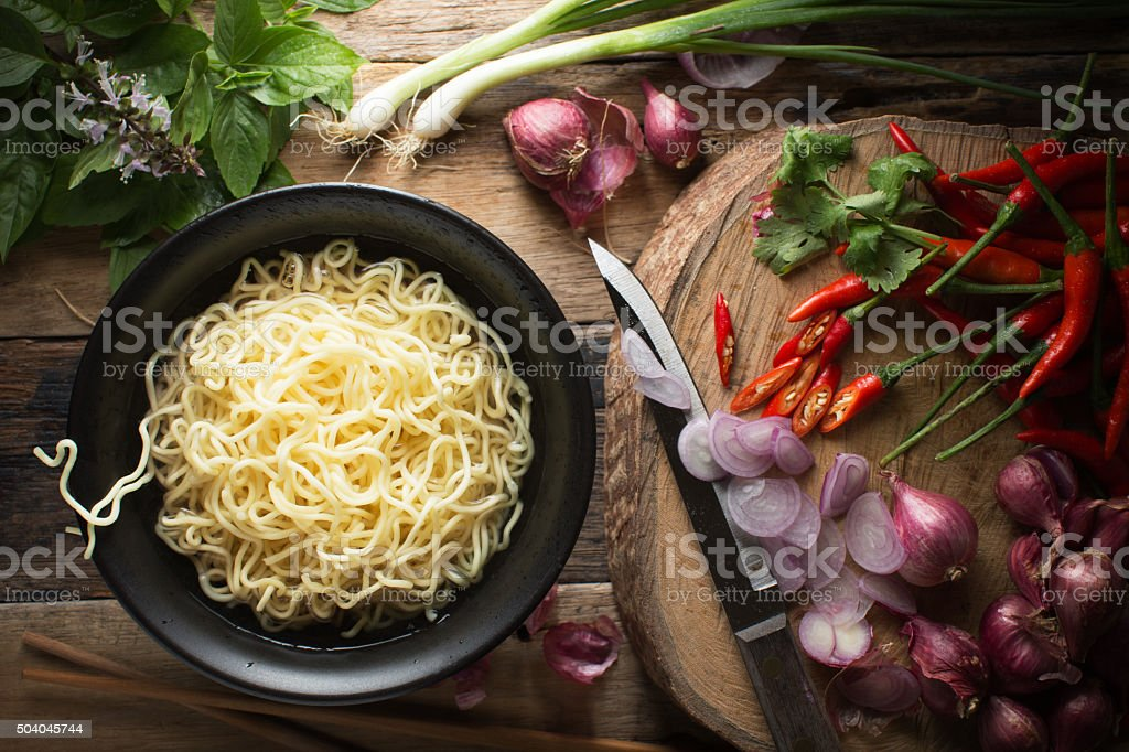 Instant noodle stock photo
