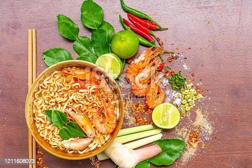Thailand, Instant Noodles, Pasta, Noodles, Ramen Noodles, Tom Yum Soup, Soup, Shrimp - Seafood