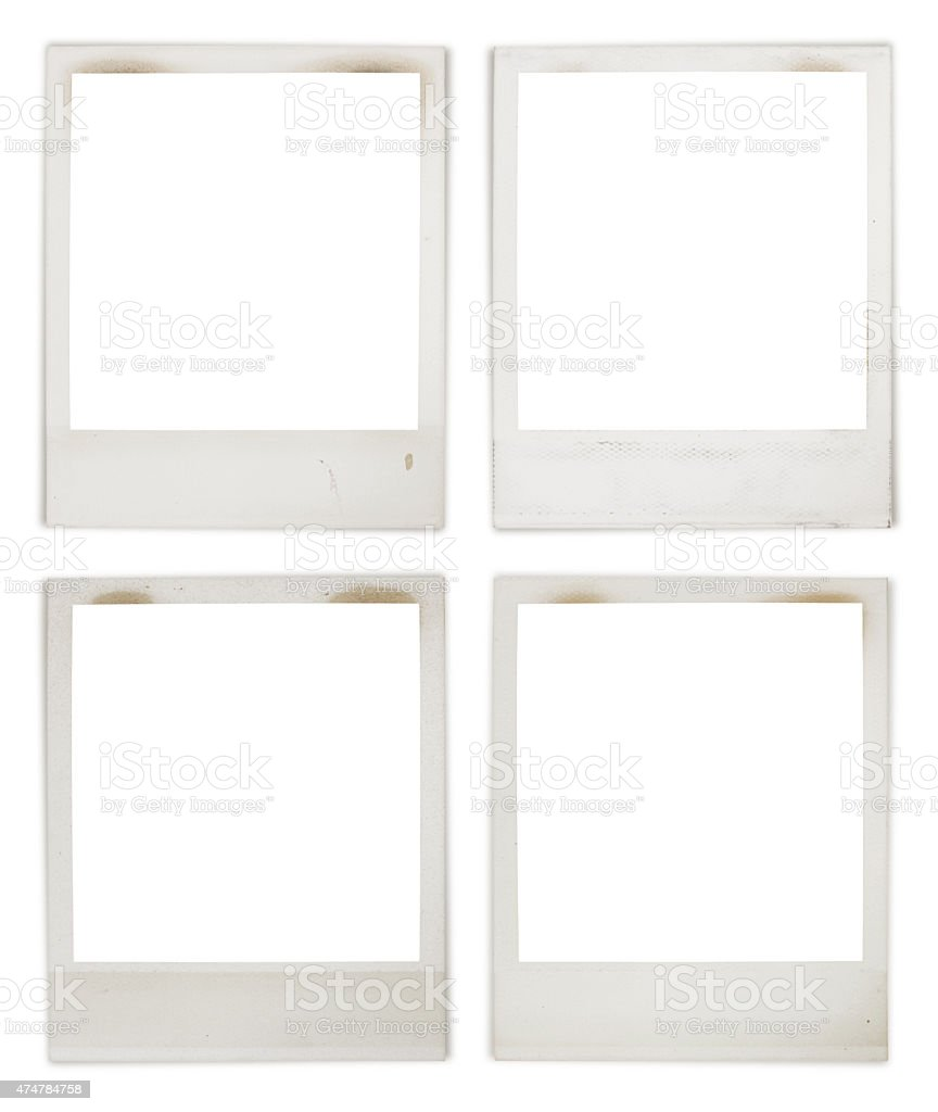 Instant Photo Frame Collection (with 2 paths) stock photo