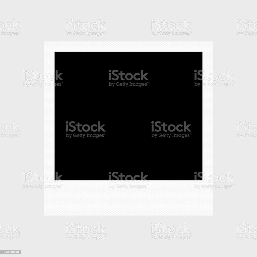 Instant photo frame stock photo