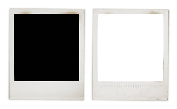 instant photo frame variation - polaroid stockfoto's en -beelden