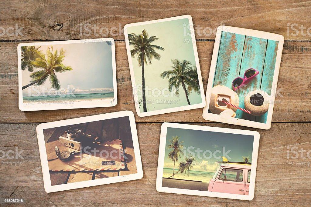 instant photo stock photo