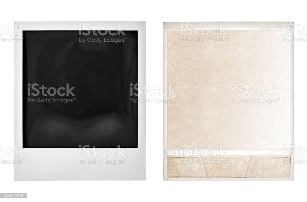 Instant photo polaroid frame isolated white background stock photo