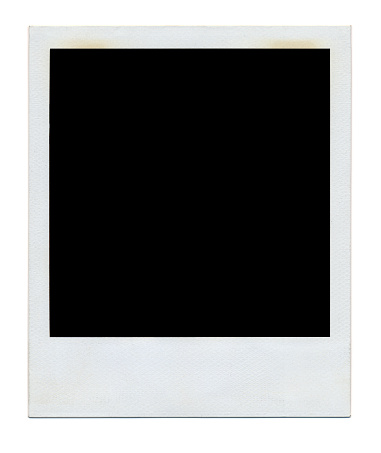 Instant polaroid frame isolated on a white background