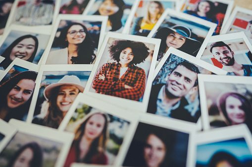 Instant portraits of multi ethnic group