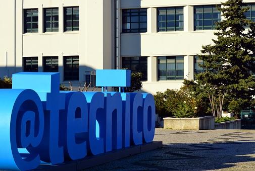 Instituto Superior Técnico (IST), @tecnico logo and Mechanical engineering building -  Portugal's most prestigious engineering school -  Lisbon