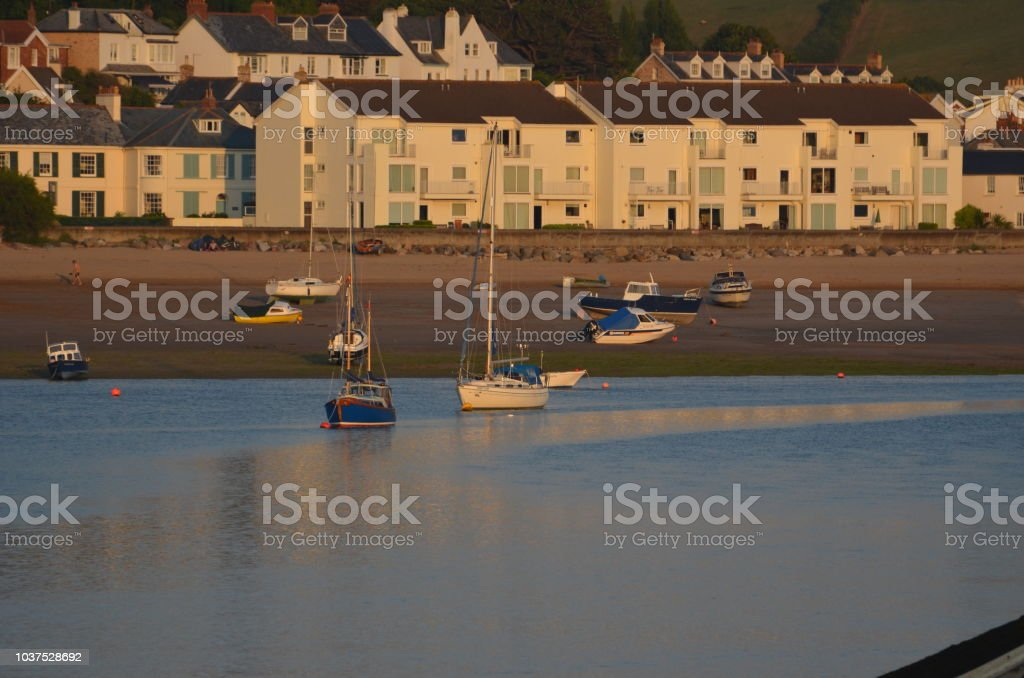 Instow from Appledore stock photo