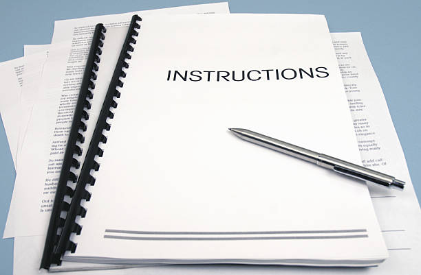 Instruction Book stock photo