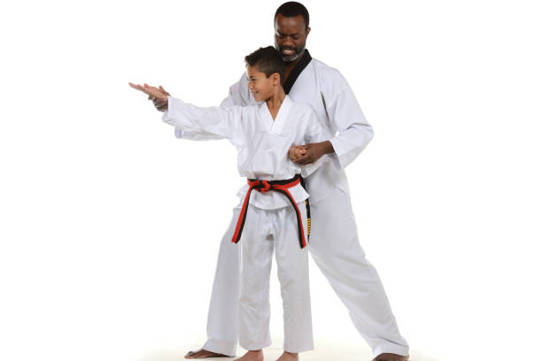 instruction - martial arts gerville stock pictures, royalty-free photos & images